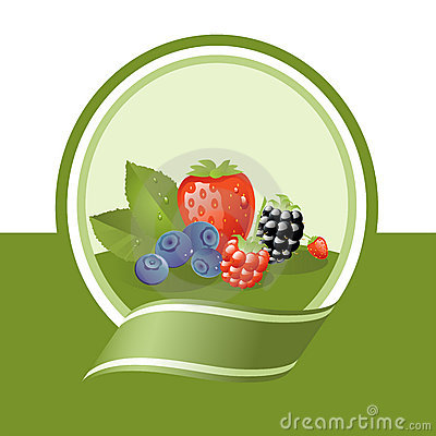 Free Fresh Fruits Label Stock Photo - 9399990