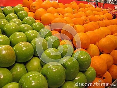 Fresh Fruits Oranges Green Apples