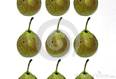 Fresh fruits pears