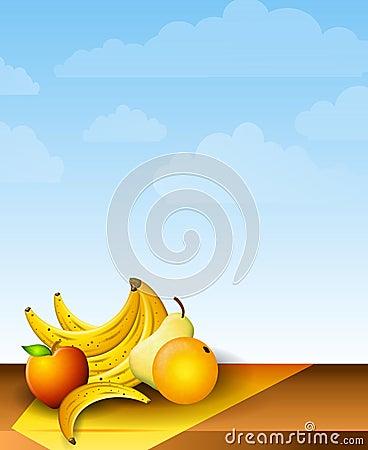 Fresh Fruits Picnic Table