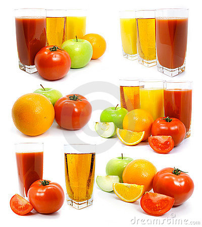 Free Fresh Fruits Vegetables And Juice In Glass Royalty Free Stock Images - 4835919