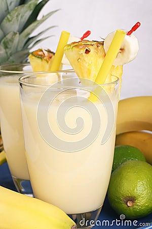 Fresh fruity milkshake