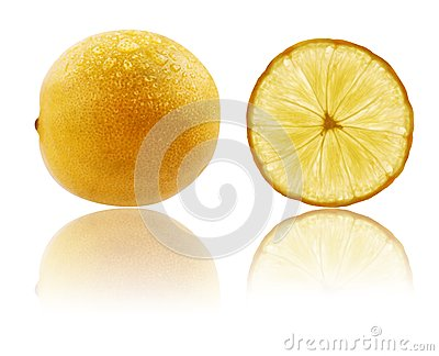 Fresh fully ripe lime in vibrant yellow color