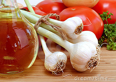 Fresh Garlic with stems