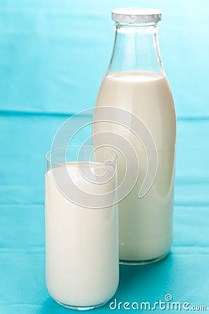 Fresh glass of milk isolated over white