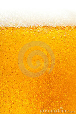 Fresh golden beer texture