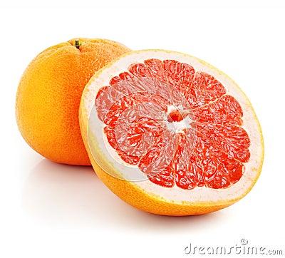 Fresh grapefruit fruit with cut