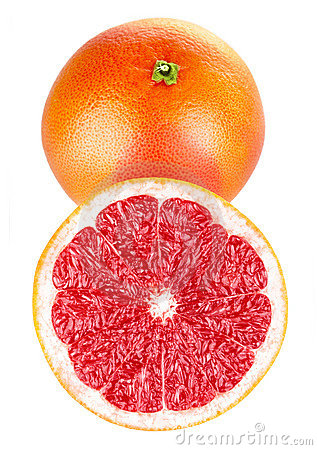Fresh grapefruit fruits in cut