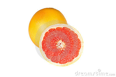 Fresh grapefruits