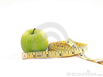 Fresh Green Apple Diet Measuring Tape Composition