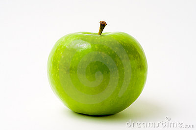Fresh Green Apple on White