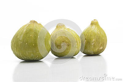 Fresh Green figs isolated
