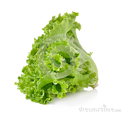 Free Fresh Green Lettuce Isolated On White Background Stock Photos - 65500913