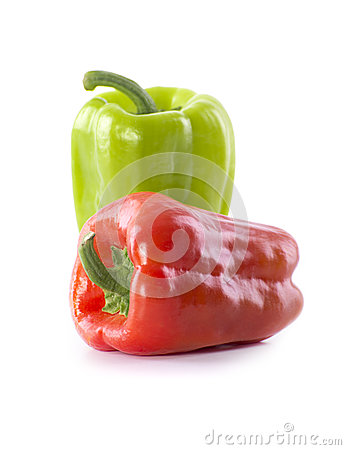 Fresh Green and Red Pepper