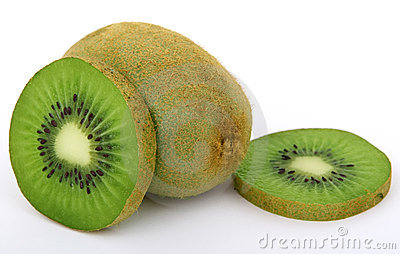 Fresh green tropical kiwi fruit