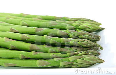 Fresh green vegetables, isolated over white