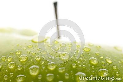 Fresh green wet apple
