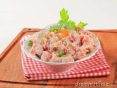 Fresh ground meat