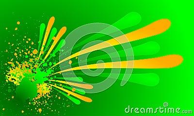 Fresh grunge color splash