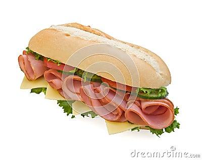 Fresh ham & swiss sub sandwich