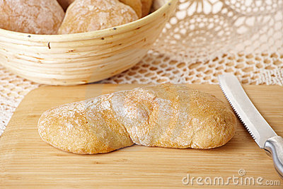 Fresh and healthy ciabatta bread