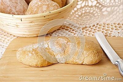 Fresh and healthy ciabatta bread