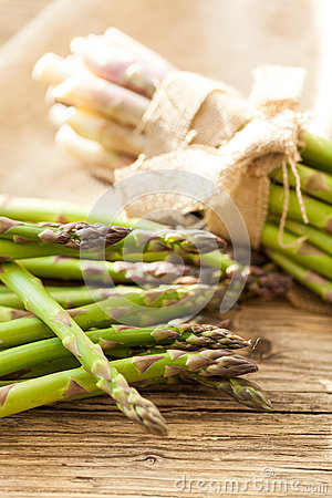 Free Fresh Healthy Green Asparagus Spears Stock Image - 44966851