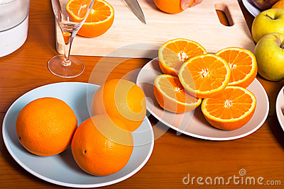 Fresh healthy oranges
