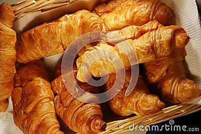 Fresh hot croissant