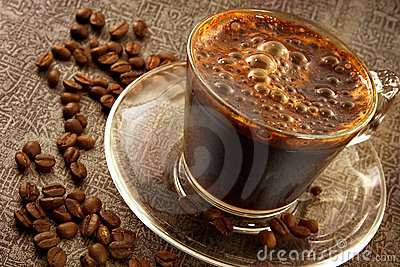 Fresh hot sweet coffee