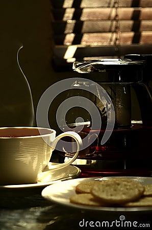 Fresh hot tea 03