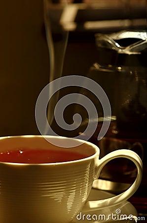 Fresh hot tea