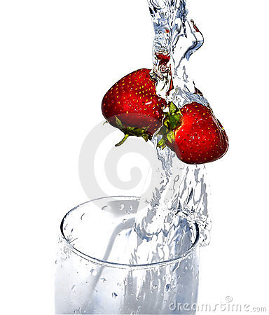 Fresh icy strawberry
