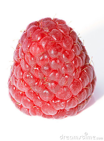 Fresh isolated raspberries