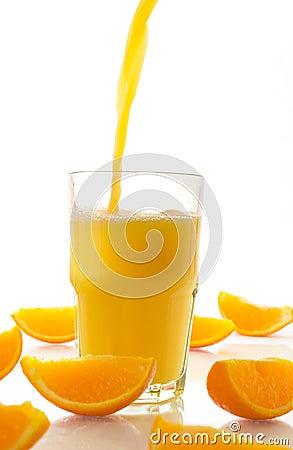 Free Fresh Juice And Orange Slices Royalty Free Stock Photography - 2439667