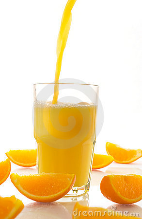 Fresh Juice and Orange Slices