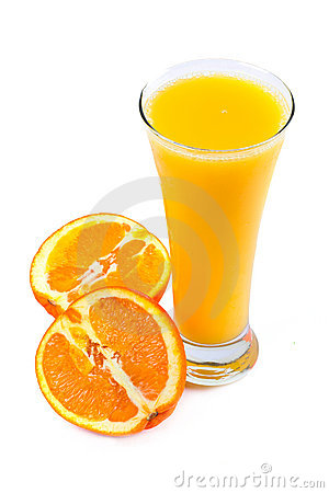 Fresh juice and oranges