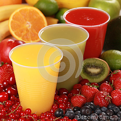 Free Fresh Juices Royalty Free Stock Photos - 25893248