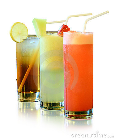 Fresh juices isolated