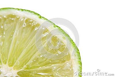 Fresh juicy lime in closeup