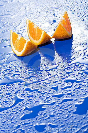Fresh juicy orange slices