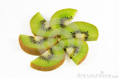 Fresh kiwi fruit slices