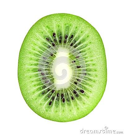 Free Fresh Kiwi Slice Closeup Stock Image - 30261341