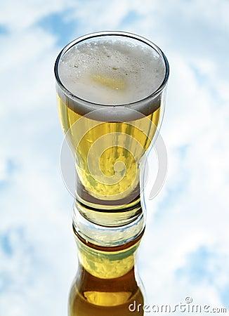 Fresh lager beer