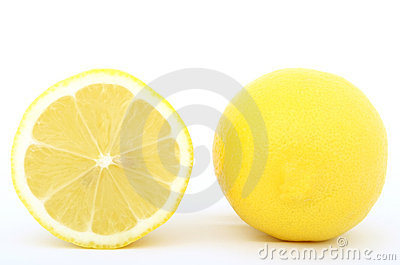 Fresh lemon fruit slice