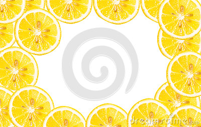 Fresh lemon slices pattern,background