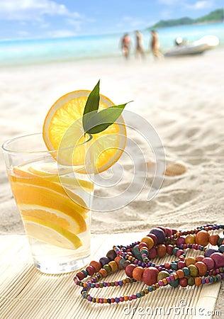 Free Fresh Lemonade On The Beach Royalty Free Stock Images - 10188799