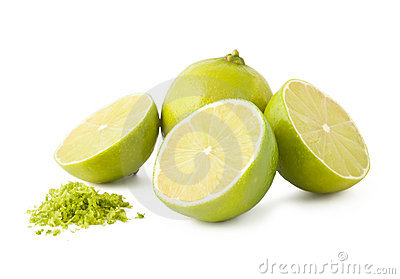 Fresh lime and peel