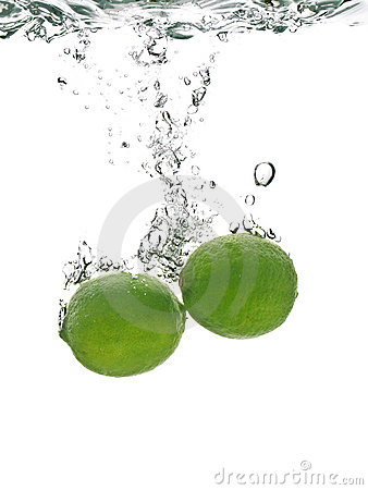 Fresh lime in water