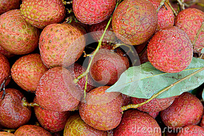 Fresh litchi with leaves
